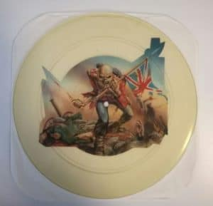 IRON-MAIDEN-RARE-UNCUT-THE-TROOPER-PIC-DISC