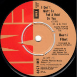 Berni Flint - I Don't Want To Put A Hold On You - 7