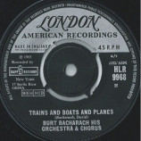 Burt Bacharach His Orchestra & Chorus - Trains And Boats And Planes - 7