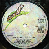 David Gates - Took The Last Train - 7