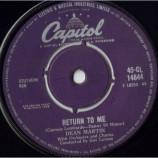 Dean Martin - Return To Me / Forgetting You - 7