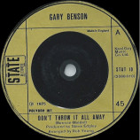 Gary Benson - Don't Throw It All Away - 7