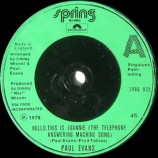 Paul Evans - Hello, This Is Joannie (Answering Machine Song) - 7