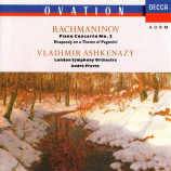 Rachmaninoff, Vladimir Ashkenazy, André Previn LSO - Piano Concerto No. 2 • Rhapsody On A Theme - CD