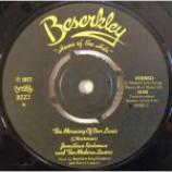 Jonathan Richman & The Modern Lovers - The Morning Of Our Lives / Roadrunner (Thrice) - Vinyl 7 Inch