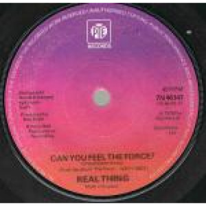 """The Real Thing - Can You Feel The Force? - Vinyl 7 Inch - Vinyl - 7"""""""