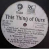 Various - This Thing Of Ours - Vinyl Compilation