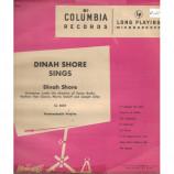 Dinah Shore  - Dinah Shore Sings