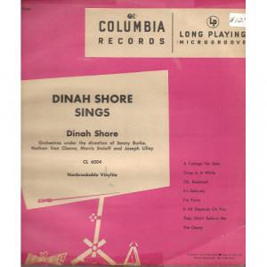 Dinah Shore  - Dinah Shore Sings - Vinyl - 10''