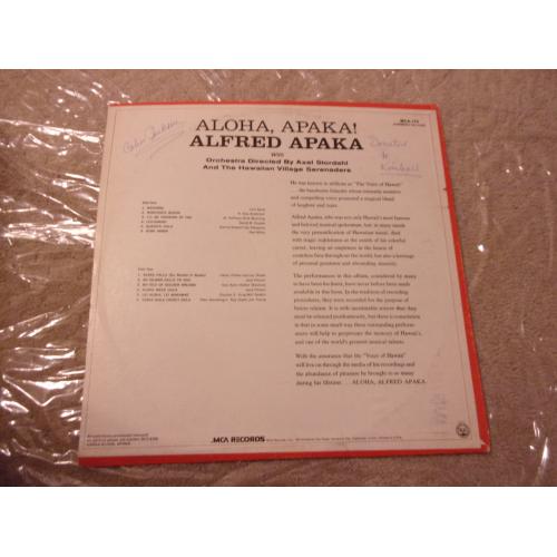 ALFRED APAKA - ALOHA APAKA - Vinyl - LP