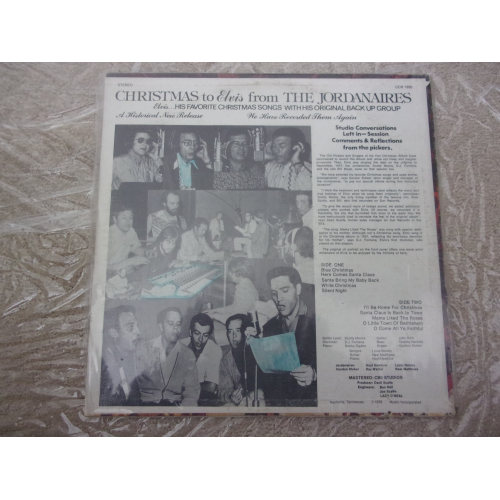 JORDANAIRES - CHRISTMAS TO ELVIS - Vinyl - LP