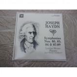 JOSEPH HAYDN & JANE GLOVER - HAYDN; SYMPHONIES NOS. 80, 83, 84 & 87-89