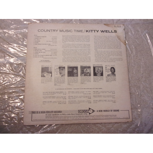 KITTY WELLS - COUNTRY MUSIC TIME - Vinyl - LP