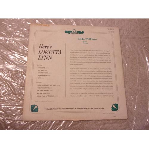 LORETTA LYNN - HERE'S LORETTA LYNN - Vinyl - LP