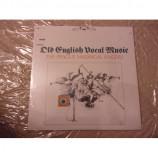PRAGUE MADRIGAL SINGERS - OLD ENGLISH VOCAL MUSIC