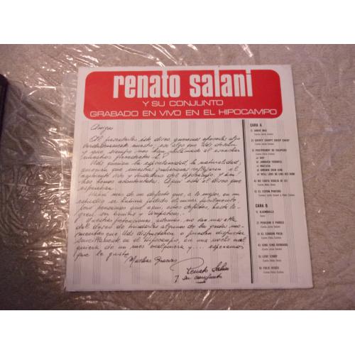 RENATO SALANI - GRABADO EN VIVO EN EL HIPOCAMPO - Vinyl - LP