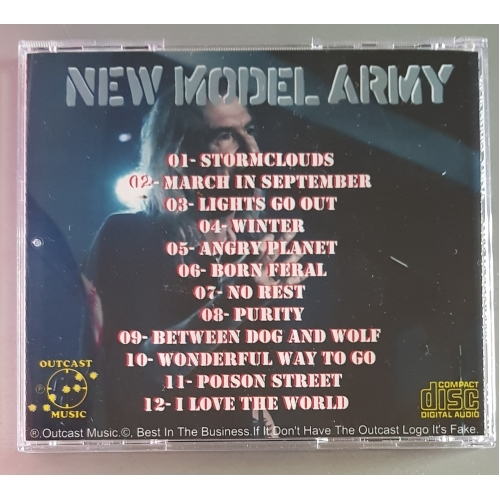 NEW MODEL ARMY - Live in Skegness 2018 - CD - CDr