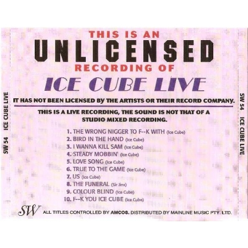 ICE CUBE - Live - CD - Album