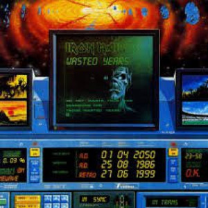 """Iron Maiden - Wasted Years (Blue) - Vinyl Record - 12"""""""