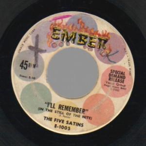 5 Satins - In The Still Of The Nite / The Jones Girl - 45 - Vinyl - 45''