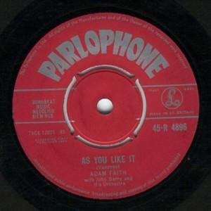 Adam Faith - As You Like It / Face To Face - 45 - Vinyl - 45''