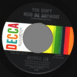 Brenda Lee - Bring Me Sunshine / You Don't Need Me Anymore - 45