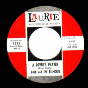 Dion & The Belmonts - Every Little Thing I Do / A Lover's Prayer - 45 - Vinyl Record - 45''
