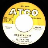 Hutch Davie & His Honky Tonkers - Sweet Georgia Brown / Heartaches - 45