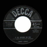 Jerry Lewis - Let Me Sing And I'm Happy / It All Depends On You - 45
