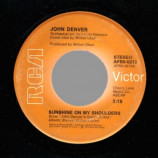 John Denver - Around And Around / Sunshine On My Shoulders - 45