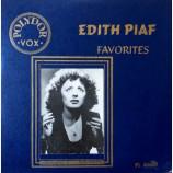 Edith Piaf - Favorites - 10 Inch 33 1/3 RPM