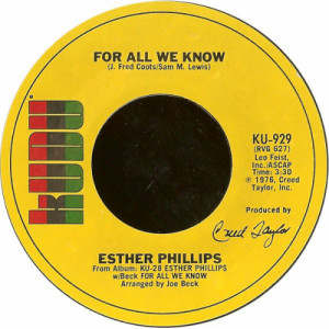 """Esther Phillips - For All We Know / Fever [Vinyl] - 7 Inch 45 RPM - Vinyl - 7"""""""