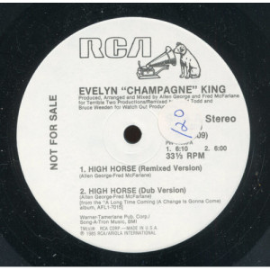 """Evelyn ''Champagne'' King - High Horse / Take A Chance [Vinyl] - 12 Inch 33 1/3 RPM EP - Vinyl - 12"""""""