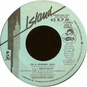 "n.y.c. Peech Boys - On A Journey [Vinyl] - 7 Inch 45 RPM - Vinyl - 7"""