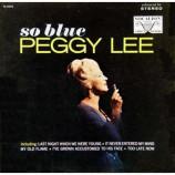 Peggy Lee - So Blue [Vinyl] - LP