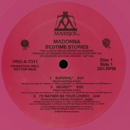 Madonna - Bedtime Stories - Vinyl Record - 2 x LP