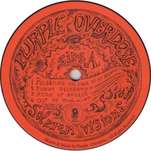 Purple Overdose - Solemn Visions - Vinyl Record - LP