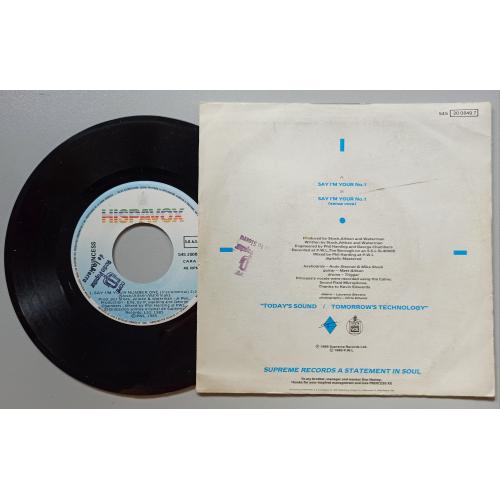 """Princess - Say I'm Your No. 1 - 7 - Vinyl - 7"""""""