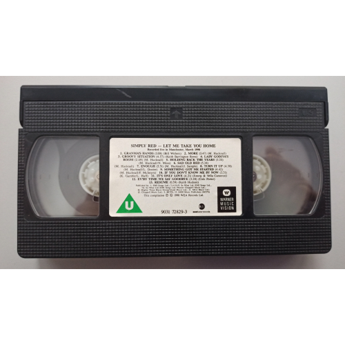 Simply Red - Let Me Take You Home - VideoPAL - VHS - VHS