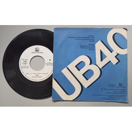 "Ub40 - The Earth Dies Screaming = La Tierra Se Muere Gritando - 7 - Vinyl - 7"""