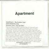 apartement - my brother chris ACETATE CD