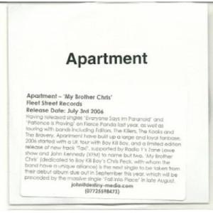 apartement - my brother chris ACETATE CD - CD - CDr