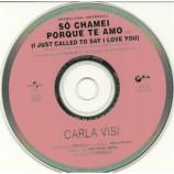 Carla Visi - So chamei porque te amo PROMO CDS
