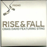Craig David featuring Sting - Rise & Fall PROMO CDS
