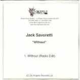 JACK SAVORETTI - WITHOUT ACETATE CD