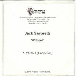 JACK SAVORETTI - WITHOUT ACETATE CD - CD - CDr