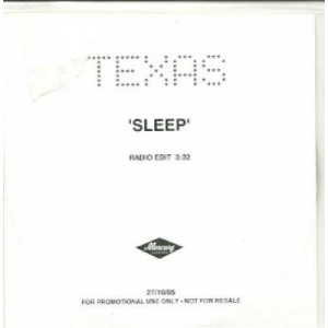 Texas - sleep ACETATE CD - CD - CDr