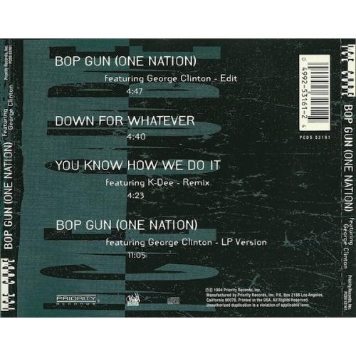 Ice Cube  -  Bop Gun (One Nation) - CD - Single