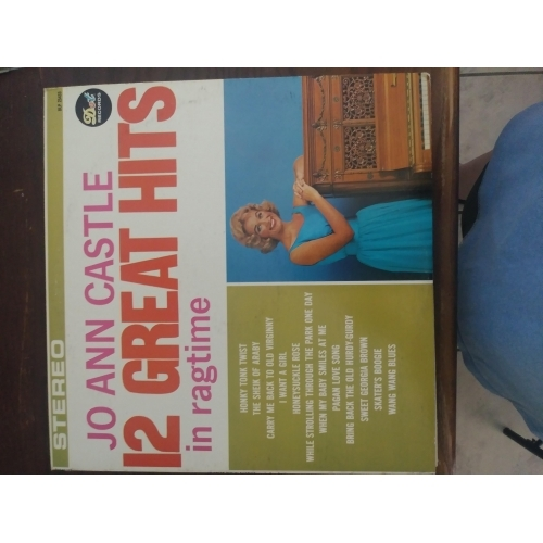 Jo Ann Castle - 12 Great Hits in Ragtime - Vinyl Record - LP