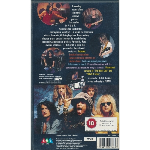 Aerosmith - The Making Of Pump - VHS - VHS